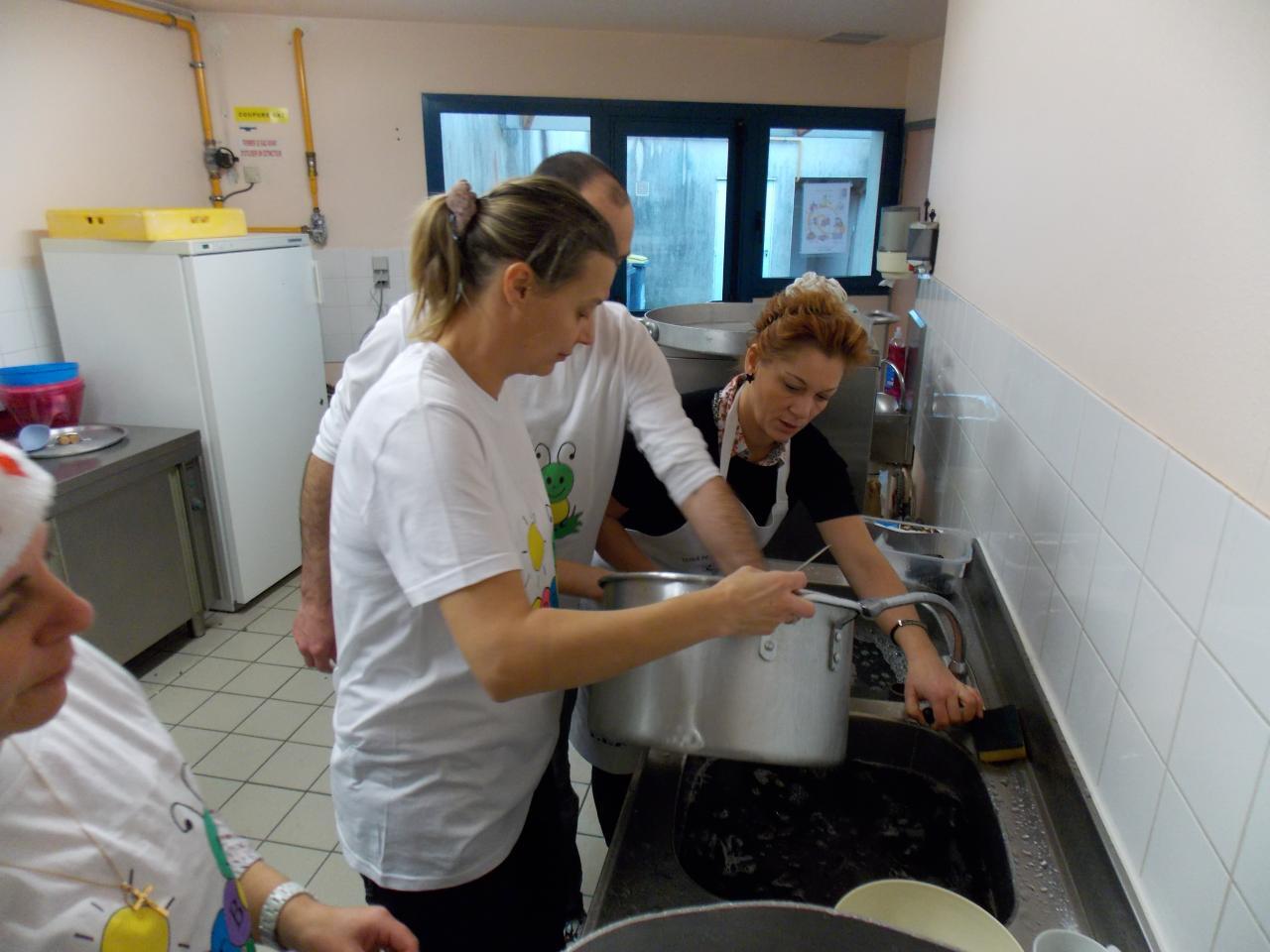 préparation des moules frites