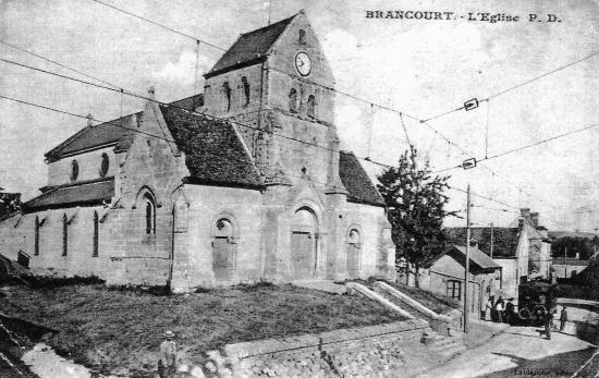 L'ancienne église détruite par la guerre