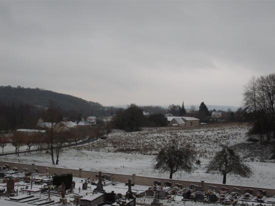 Brancourt-en-Laonnois vu depuis le cimetière