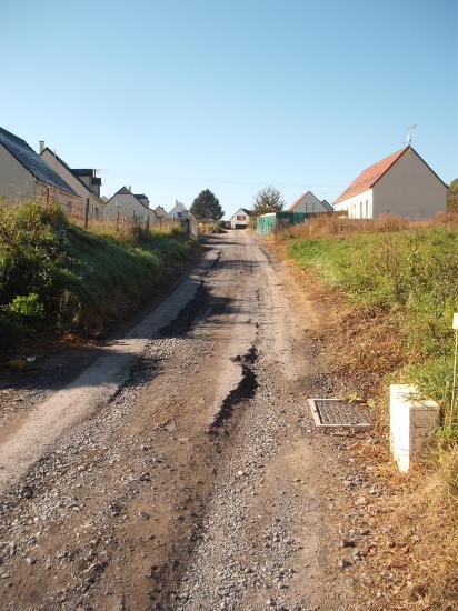 rue le champ Marot avant travaux