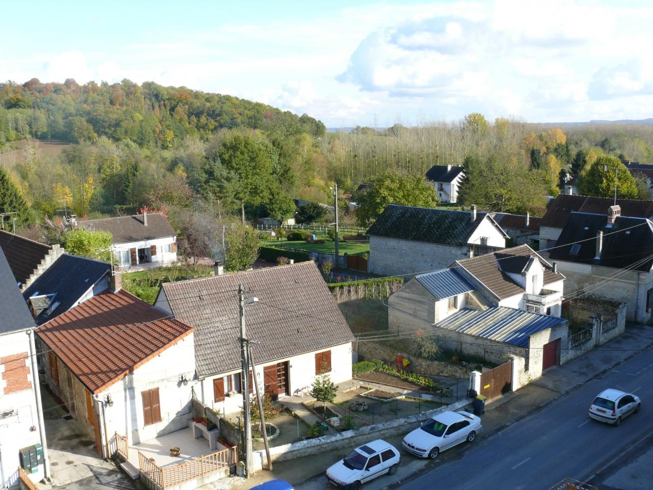 vue du haut du clocher de l'église