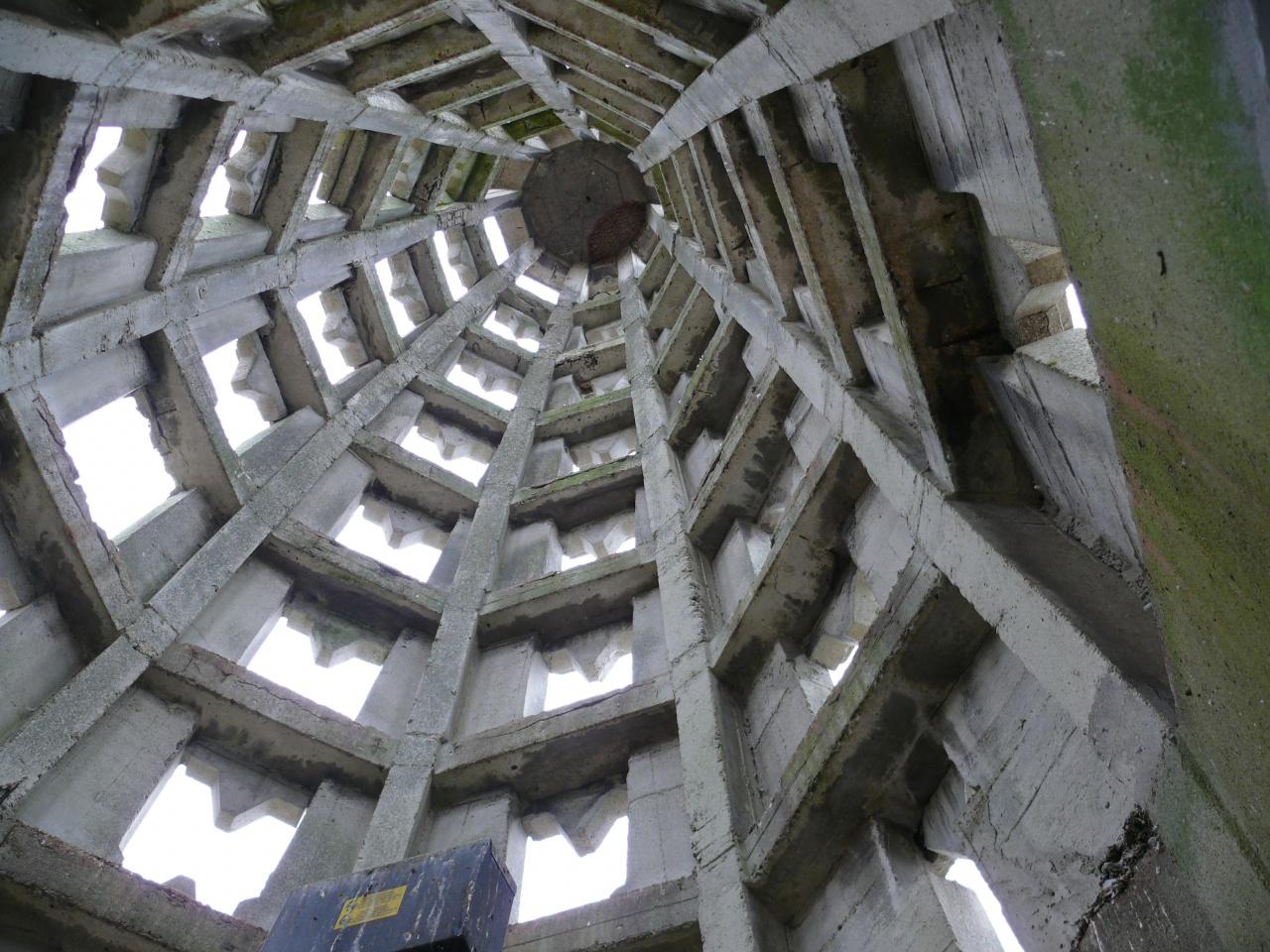 Le clocher vu de l'intérieur