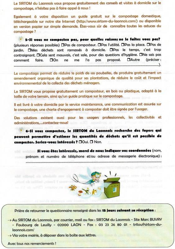 Enquete compostage 2 sur 2